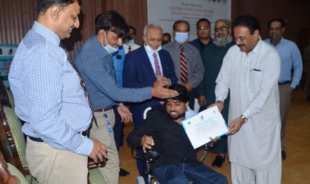 Electric Wheel Chairs Distributed among Students
